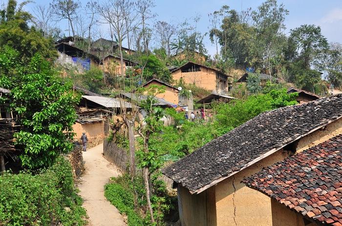 Casas en el pubelo de Thien Huong