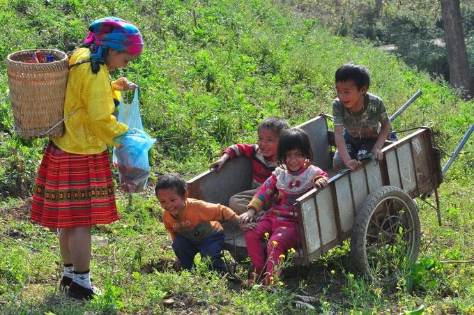 Encuentro con locales en Thien Huong