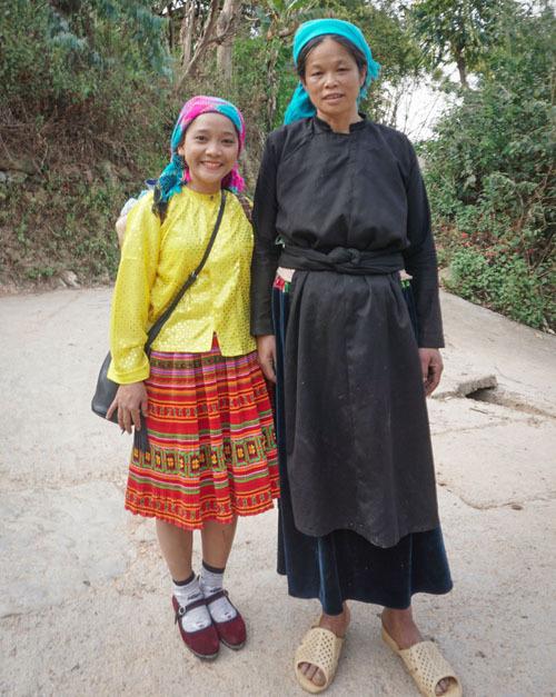 Trajes tipicos del pueblode Thien Huong