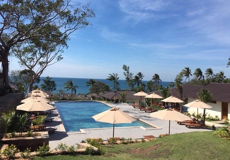 Hotel al borde del mar en la playa de Ong Lang Phu Quoc