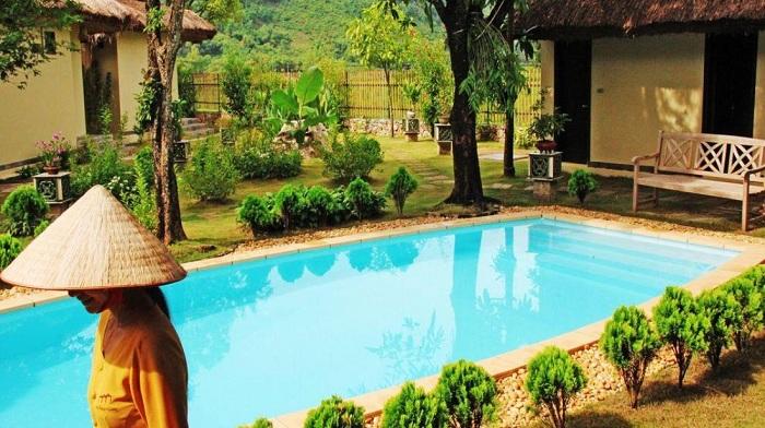 Piscina del hotel Mai Chau Villas Vietnam