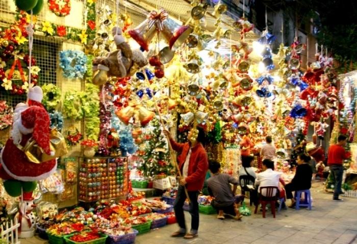 Navidad en el barrio antiguo de Hanoi
