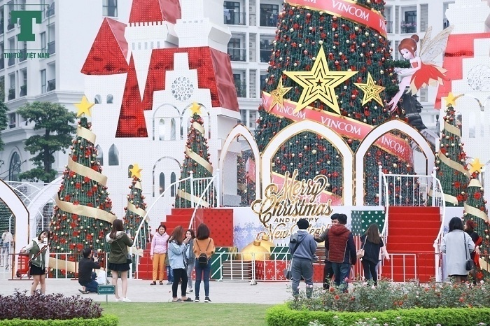 Arbol de Navidad en Vincom Hanoi
