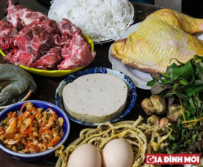 Ingredientes del Bun Tahng Hanoi