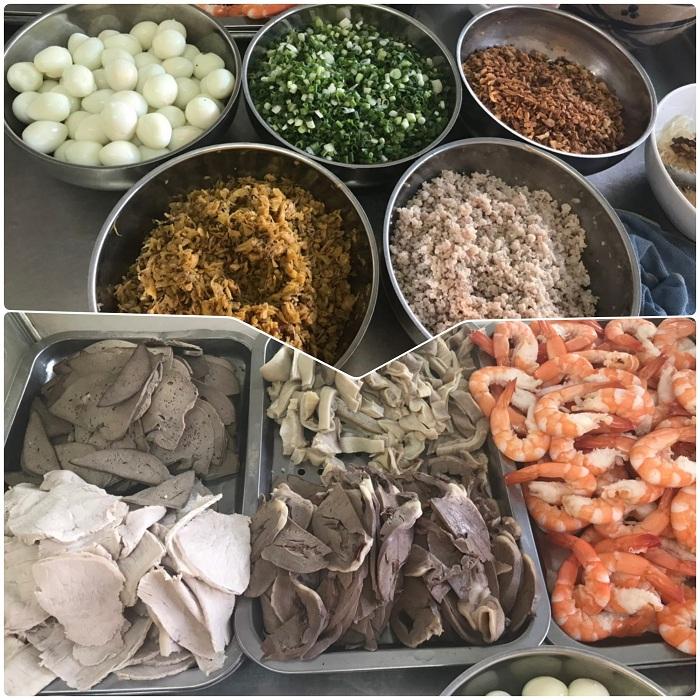 Ingredientes del Hu Tieu Saigon