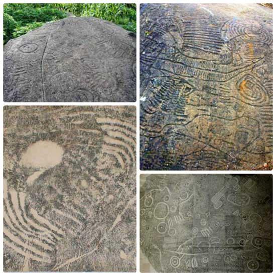 Inscripciones campo de piedras en Sapa