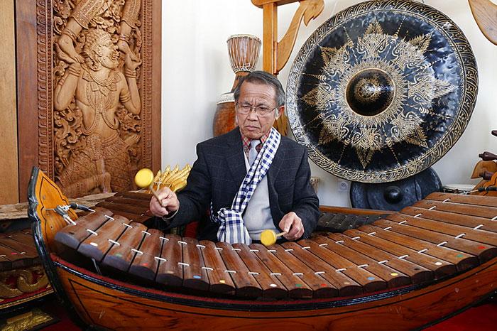 Instrumento musical tradicional de Laos