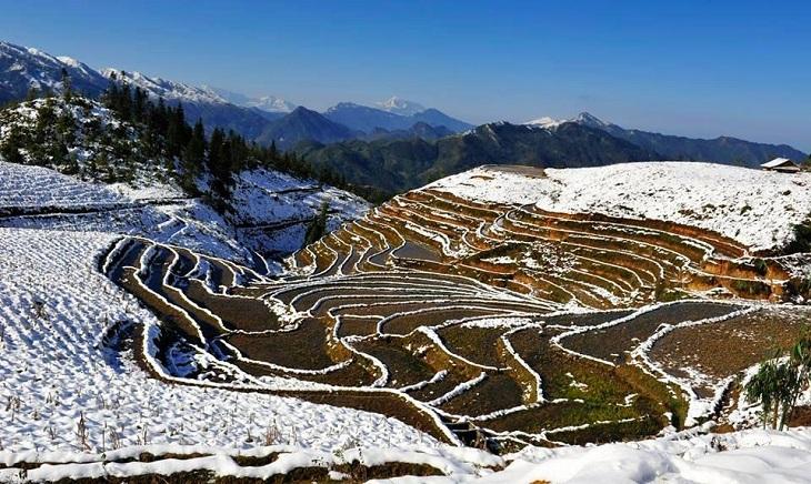 Invierno en el valle de moung hoa en sapa