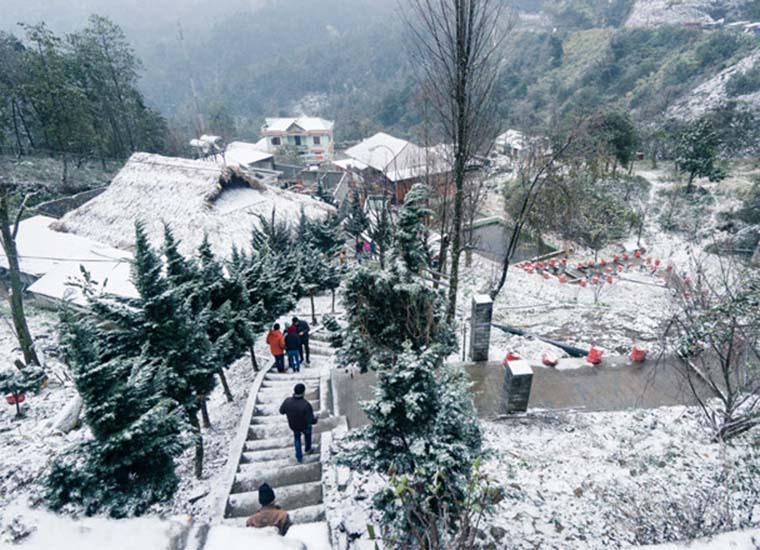 Invierno en el pueblode Sapa