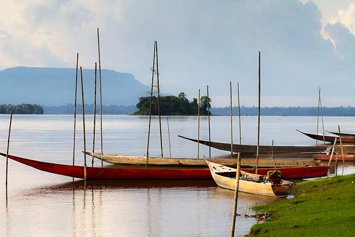 Isla de Don Daeng en el sur de Laos