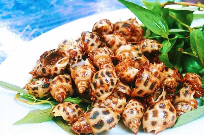 Caracoles Huong plato tipico de Phu Quoc Vietnam
