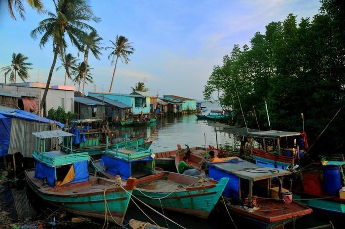 Pueblo de Ham Ninh en la Isla Phu Quoc Vietnam
