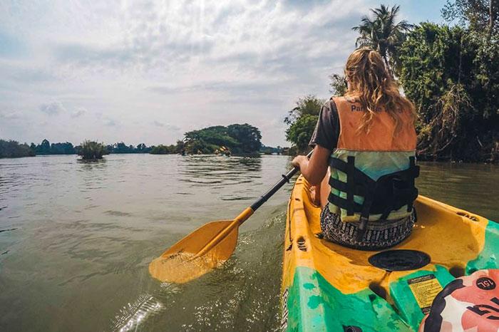 Kayak en las 4000 islas en Laos