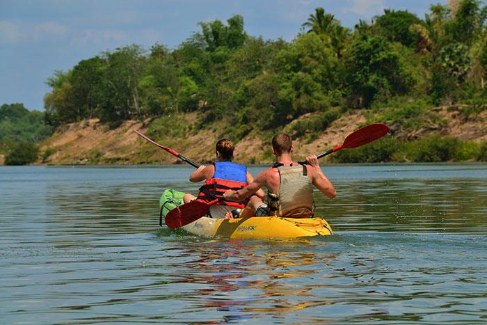Kayak en las 4000 islas en el sur de Laos