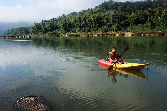 Excursiones en kayak en las cataratas de Tad Sae Luang Prabang
