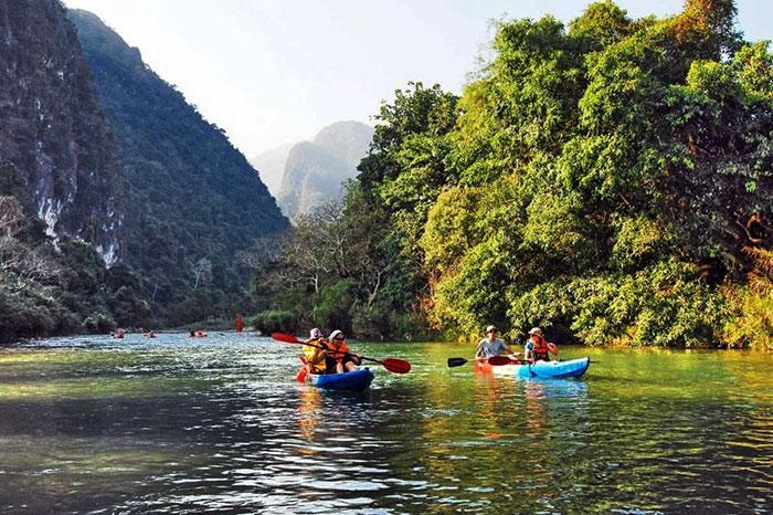 Kayak en Luang Namtha Laos