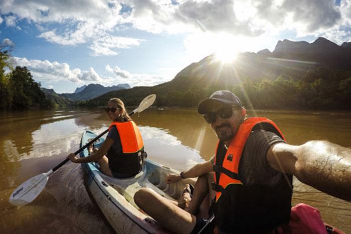 Kayak en Muang Ngoi Laos