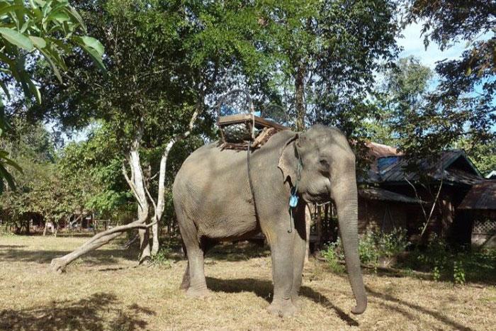 El pueblo de Kiet Ngong en el sur de Laos