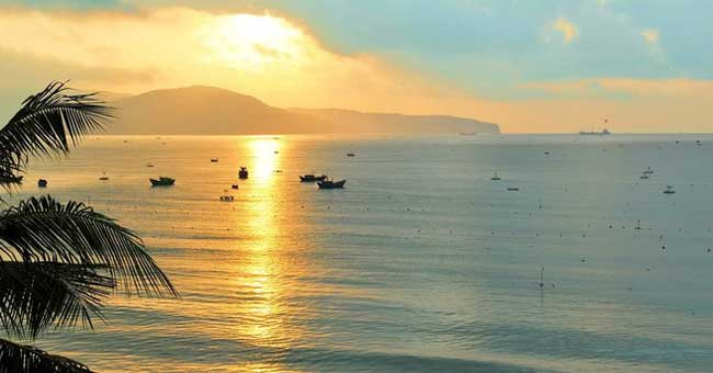 Playa de Quy Nhon en Binh Dinh Vietnam