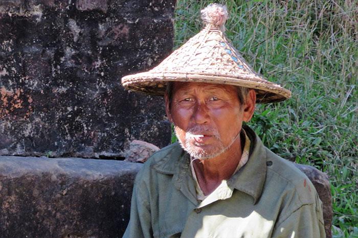 Poblador local de Mandallay Myanmar