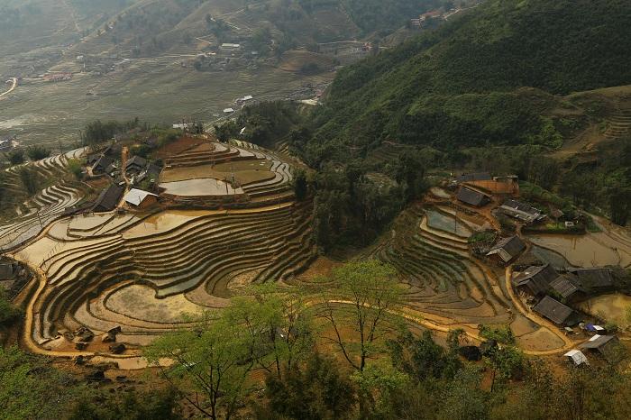 Alojamiento familiar al lado de terrazas de arroz en Sapa Vietnam