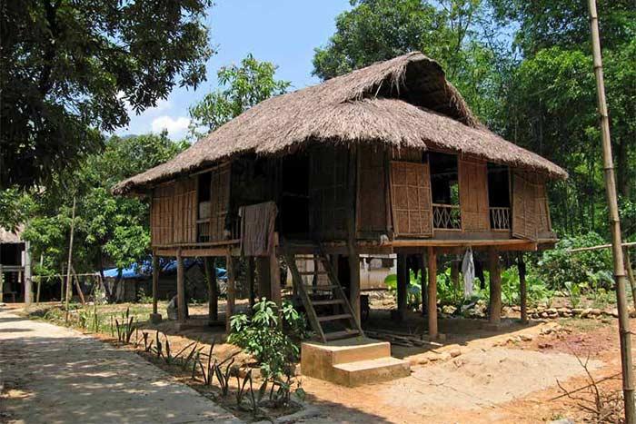 Casa tradicional en Mai Chau Vietnam