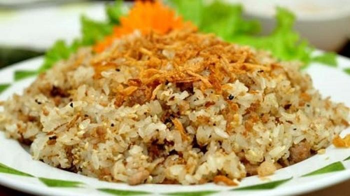 Arroz pegajoso con huevos de hormiga de Ninh Binh