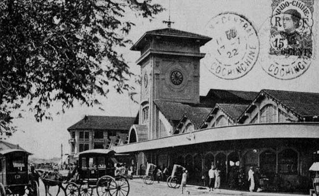 Mercado Ben Tranh en la epoca colonial Saigon