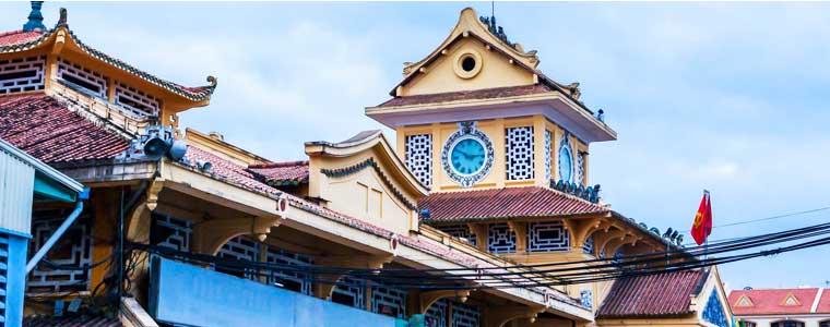 Mercado de Bing Tay en Saigon Vietnam