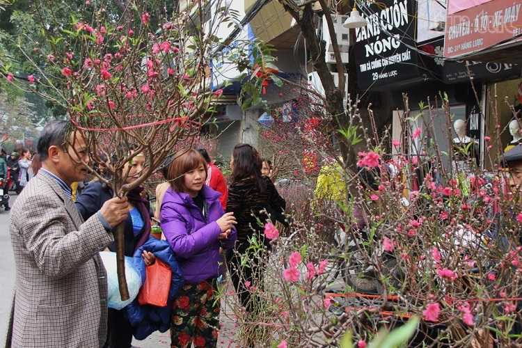 Mercado de flores de Hang Luoc en Hanoi