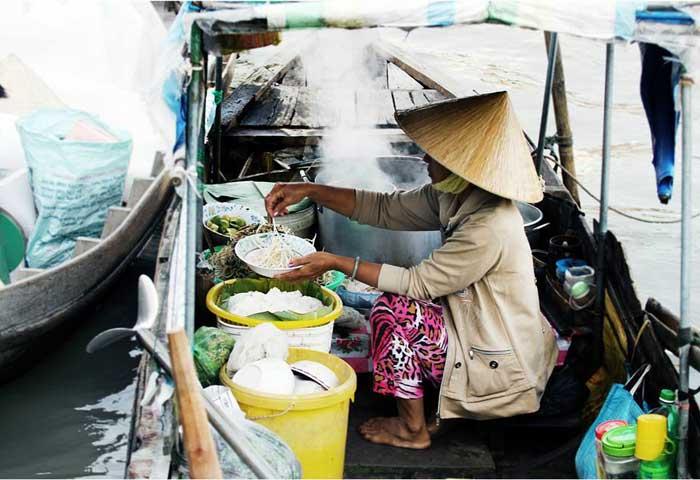 Mercado flotante de Cai Be Vietnam