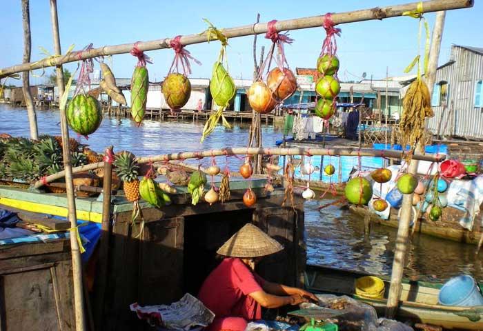 Mercado flotante de Cai Rang en el Mekong