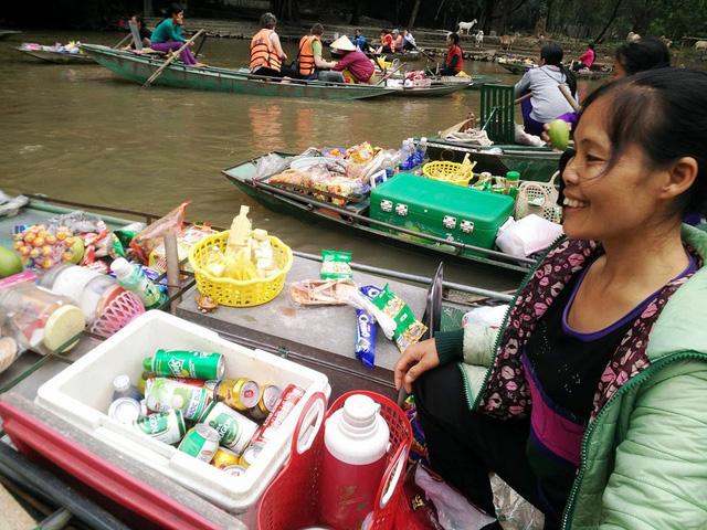 Mercado flotante de Tam Coc Ninh Binh