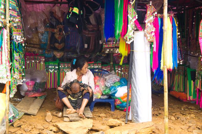 Mercado Fronterizo de Moc Chau Vietnam