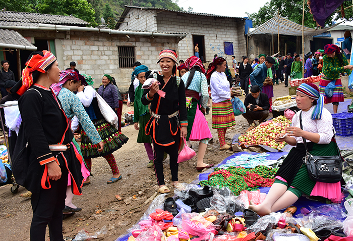 Mercado de Lung Phin en Ha Giang