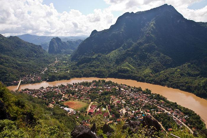 Mirador de Nong Khiaw en Laos