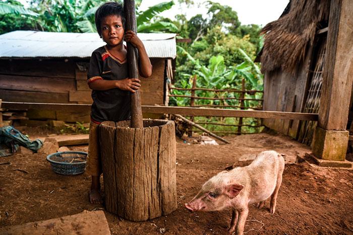 Pueblo Bunong en Mondolkiri Camboya