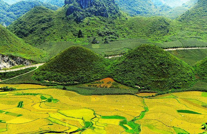 Las montanas gemelas de Quan Ba en Ha Giang