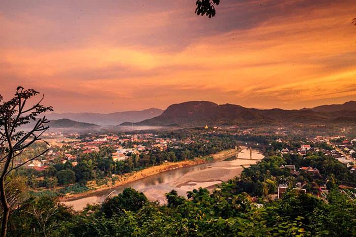 Monte Phousi en Luang Prabang Laos