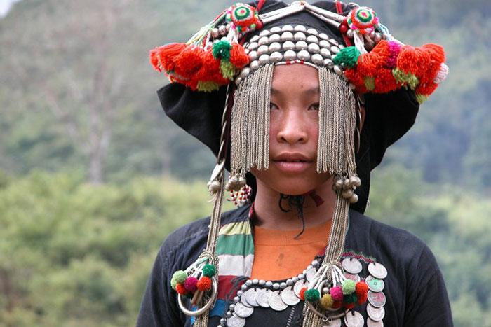 Traje tipico de una minoria etncia en Phonsaly Laos