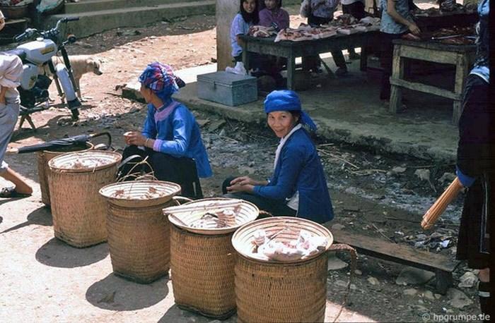 Mujeres del grupo etnico Giay en Sapa