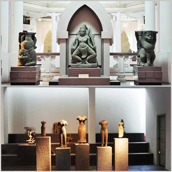 Colleccion en el museo Cham en Da Nang