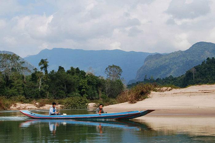 Navegacion en el rio Nam Ou Laos