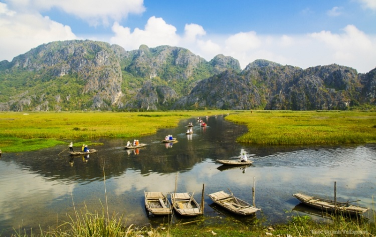 Reserva Natural de Van Long en Ninh Binh