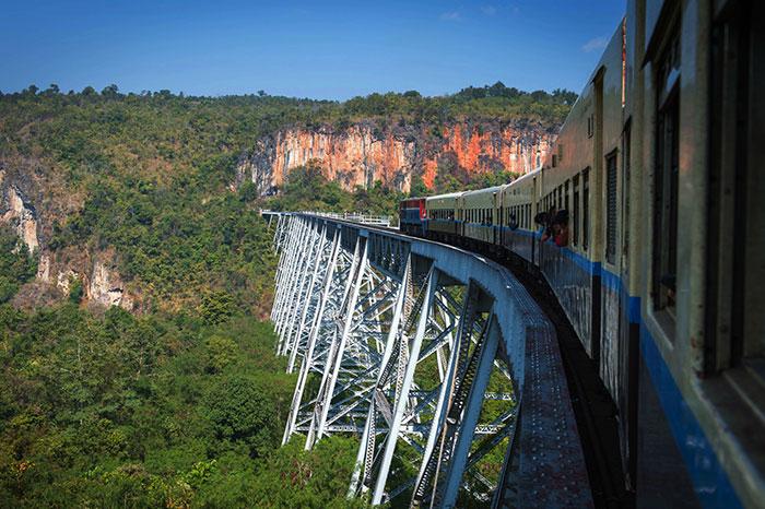 Viaducto Gokteik en Myanmar