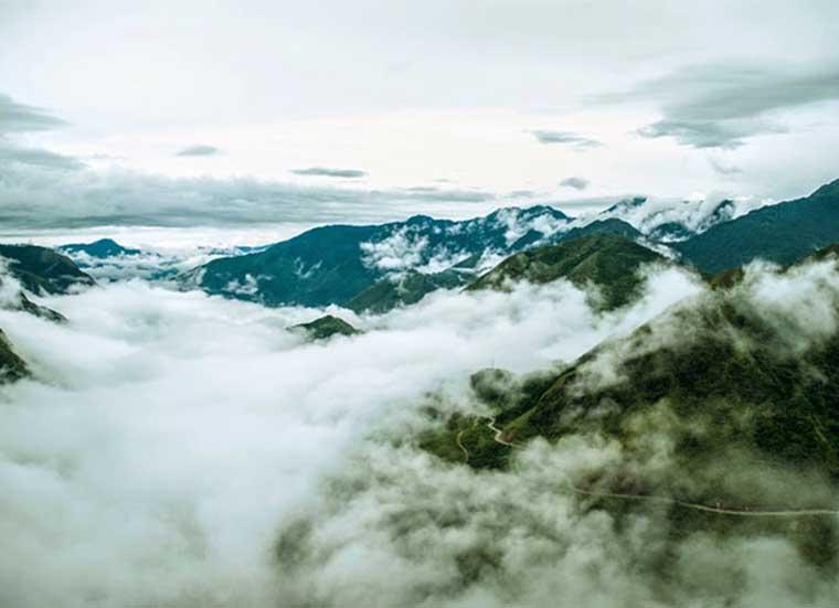 Paso de la nubes en Sapa