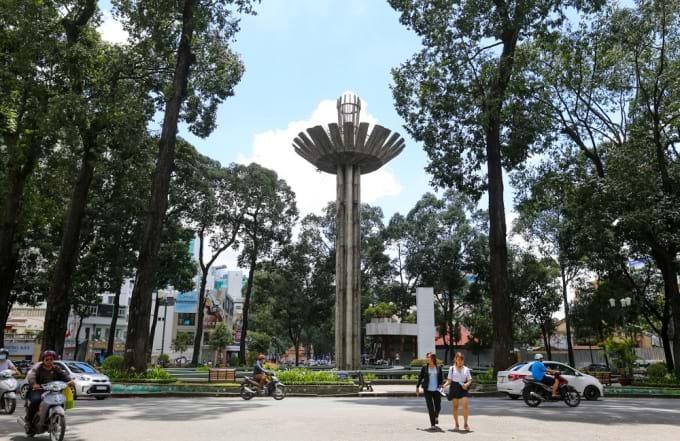Sitio del antiguo lago tortuga en Saigon