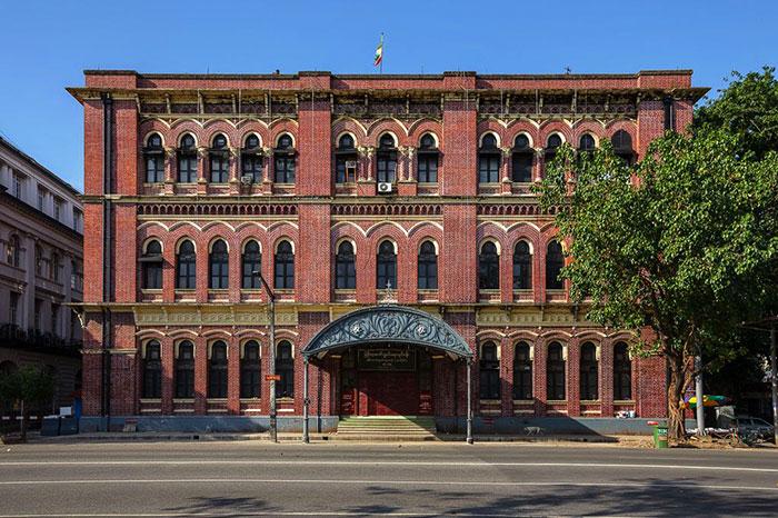 La oficina central de correos de Yangon
