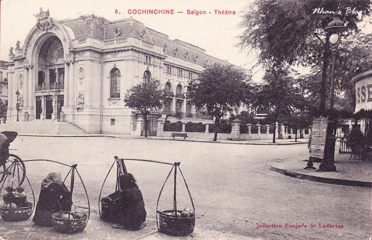 La Opera de Saigon en vietnam antigua conchinchina