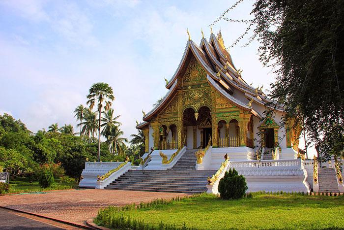 Pagoda Haw Pha Bang en el Museo Nacional de Luang Prabang